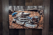 Old Car Picture 1951 Cadillac Wall Hanging Art Photograph Print on Canvas