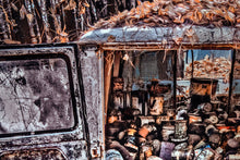 "Old Car Picture Cargo Van Wall Hanging Art Photograph Print on Canvas ""The Collector"""