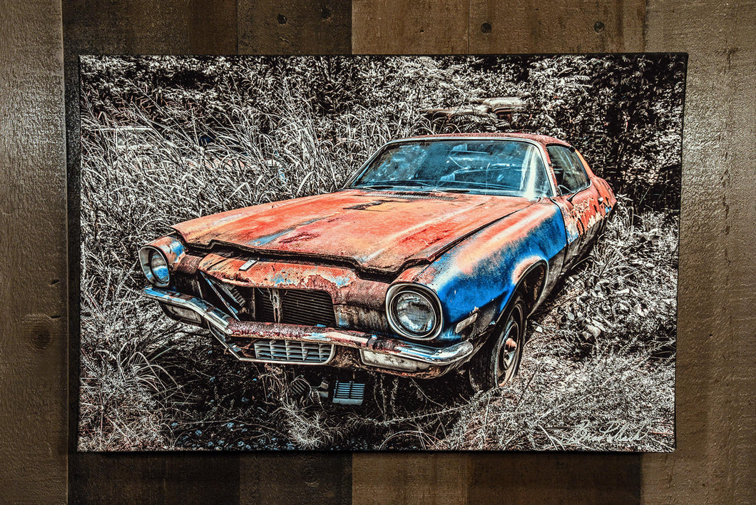 Classic Car Picture Chevrolet 1970 Camaro Wall Hanging Art Photograph Print on Canvas Old Car Photo