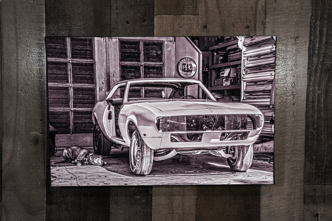 Classic Car Picture Chevrolet 1968 Camaro Wall Hanging Art Photograph Print on Canvas