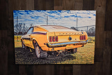 Classic Car Picture 1969 Ford Mustang Fastback Wall Hanging Art Photograph Print on Canvas