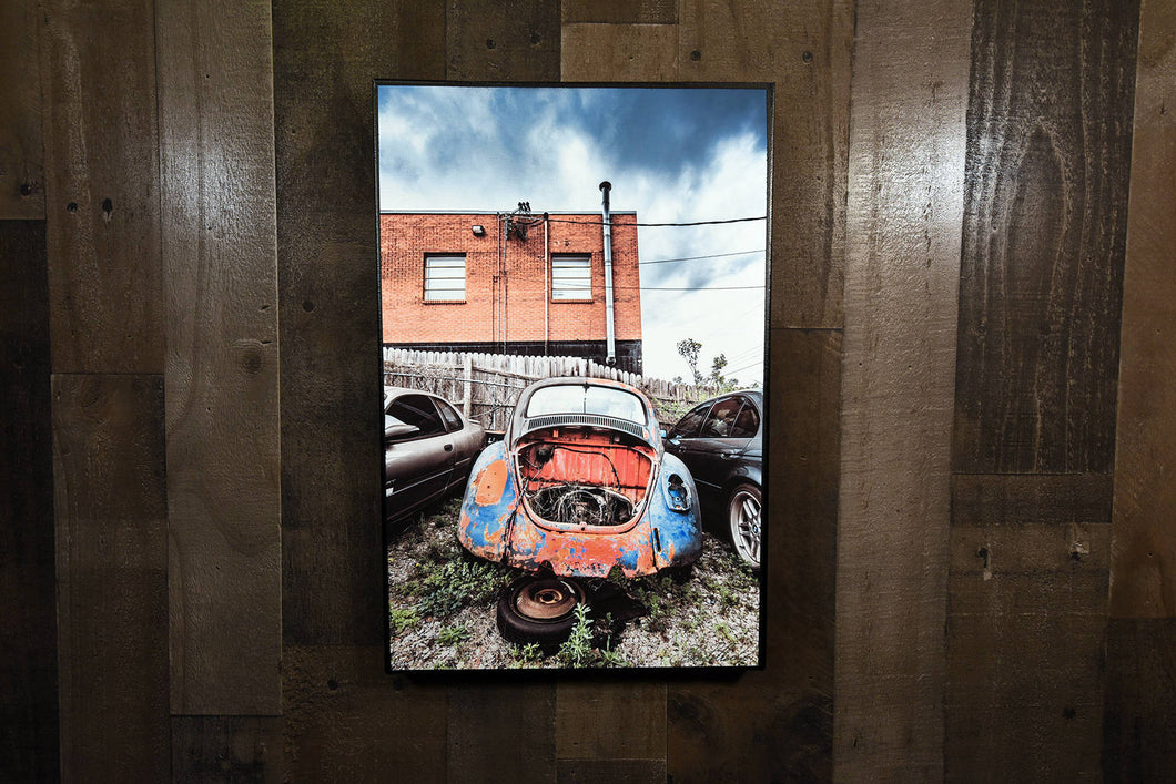 Beetle Picture Volkswagen VW Wall Hanging Art Photograph Print on Canvas Classic Car Photo