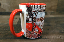 Volkswagen Bus Coffee Mug Red VW Microbus 15oz Cozy Old Classic Car