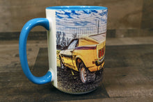 Ford Mustang Coffee Mug Yellow 1969 Fastback 15oz Cozy Old Classic Car