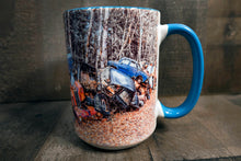 Cozy Junkyard Classic Car Coffee Mug 15oz Colorful Old European Antique Cars