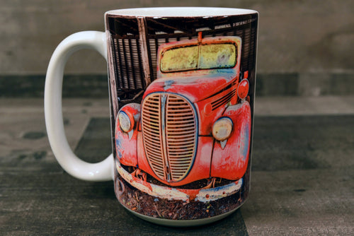 Classic Car Coffee Mug 1938 Ford Pickup Truck 15oz Cozy Old Antique Car