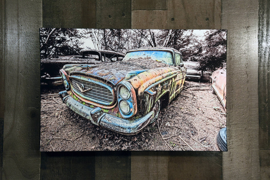 Old Car Picture 1957  Nash Ambassador Wall Hanging Art Photograph Print on Canvas