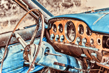 Old Car Picture 1954 DeSoto Interior Wall Hanging Art Photograph Print on Canvas Classic Car Photo