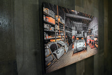 Car Repair Garage Picture MG Midget Wall Hanging Art Photograph Print on Canvas