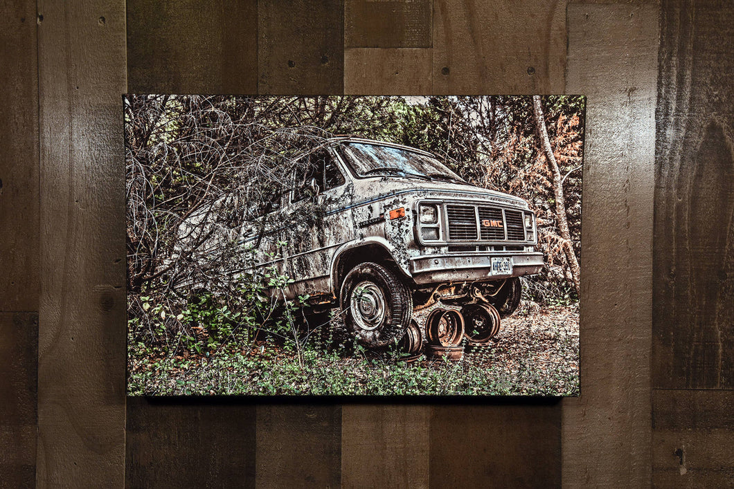 Old Van Picture GMC Vandura Art Photograph Print on Canvas Classic Car Photo