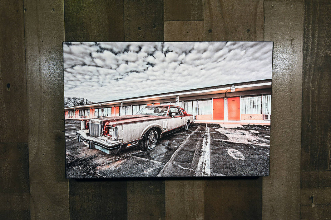 Classic Car Picture 1977 Lincoln Continental Wall Hanging Art Photograph Print on Canvas