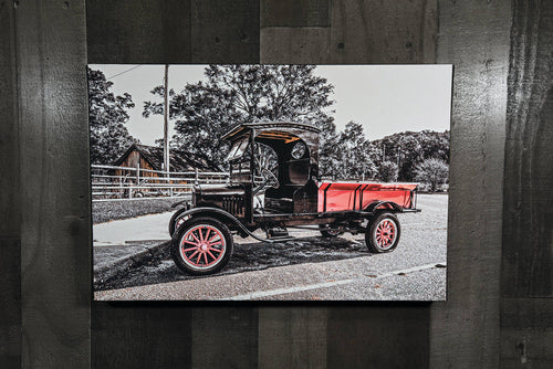 Antique Ford Picture Model T Truck Art Photograph Print on Canvas Classic Car Photo