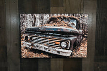 Old Ford Picture 1963 Ford Pickup Truck Art Photograph Print on Canvas Classic Car Photo