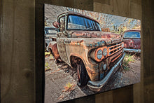 Classic Car Dodge Pickup Truck Art Photograph Print on Canvas