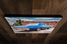 Classic Car Picture 1966 Chevrolet Bel Air Wall Hanging Art Photograph Print on Canvas Old Car Photo