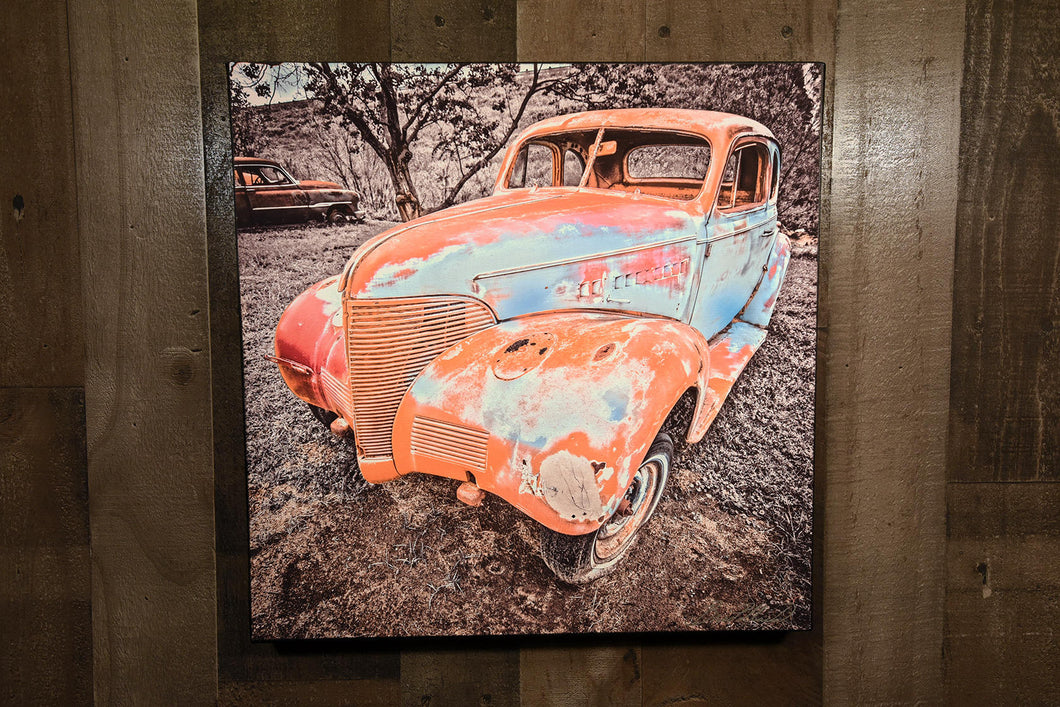 Old Car Picture 1939 Chevrolet Coupe Art Wall Hanging Photograph Print on Canvas