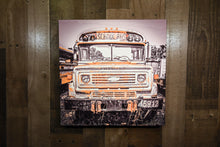 Chevrolet School Bus Art Photograph Print on Canvas