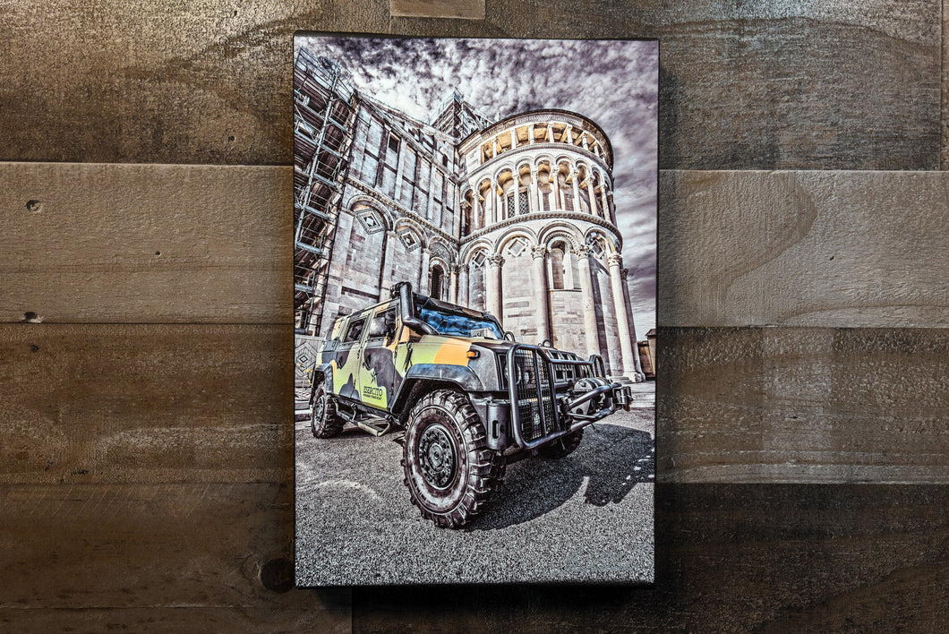 Military Army Vehicle Italy Picture Car Art Photograph Print on Canvas Classic Digital Art Painting Photo