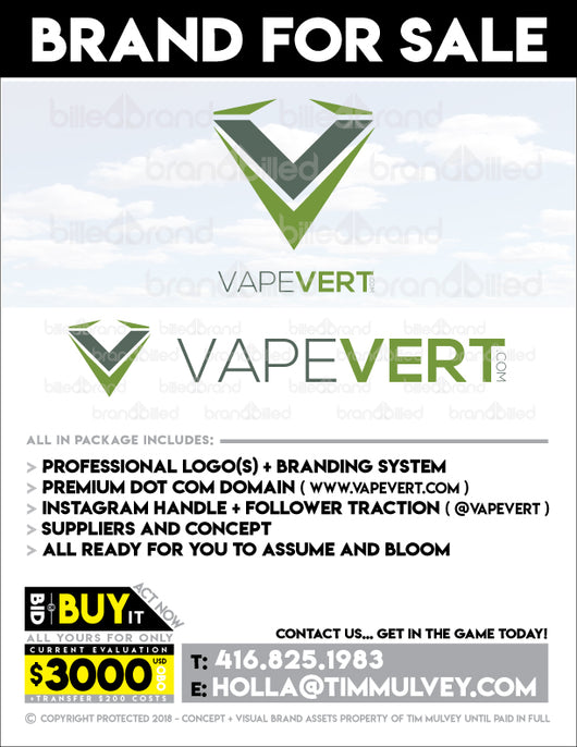 BB SALE > VapeVert.com  (Brand Auction)