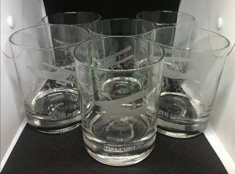 Foreign Aircraft Whiskey Glasses