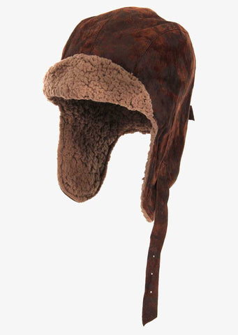 Adult Leather Flight Hat