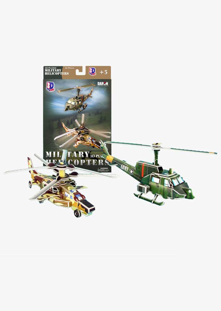 3D Puzzle Military Helicopters