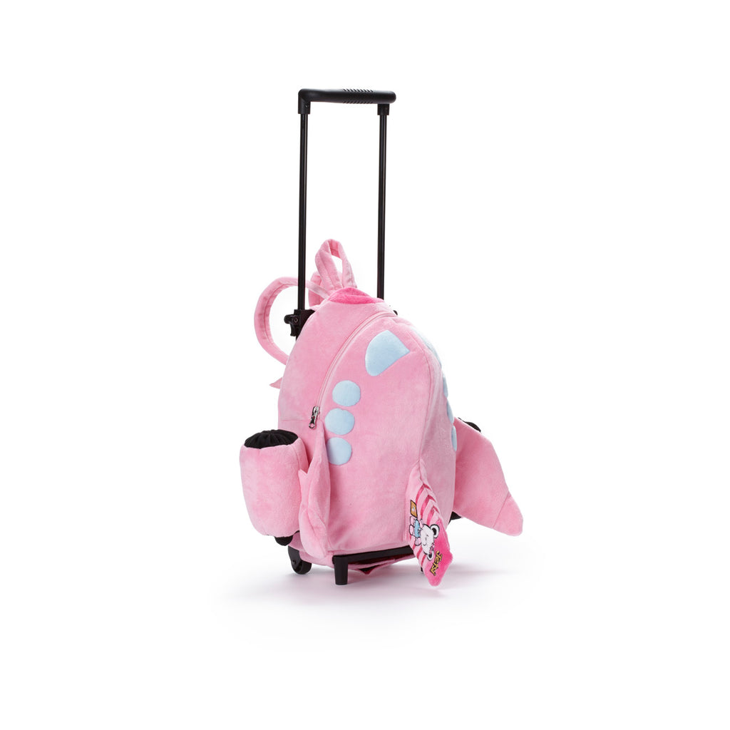 Pink Airplane Luggage Bag