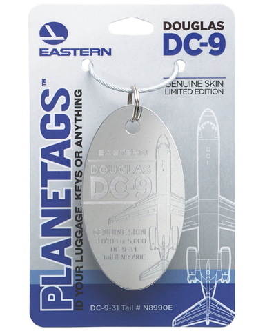 Douglas DC-9-Polished Eastern Air Lines Plane Tag