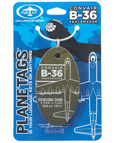 Convair B-36 Peacemaker Plane Tag