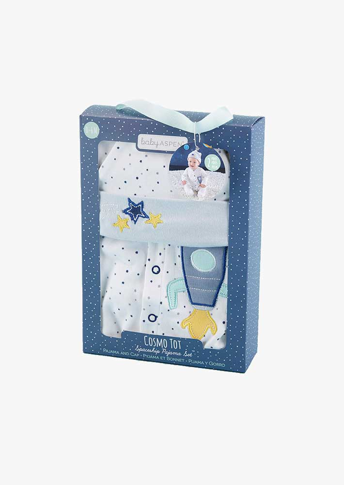 Baby Cosmo Tot Spaceship 2-Piece Pajama Gift Set