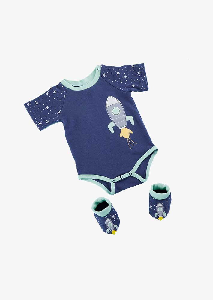 Baby Cosmo Tot Spaceship 2-Piece Layette Set
