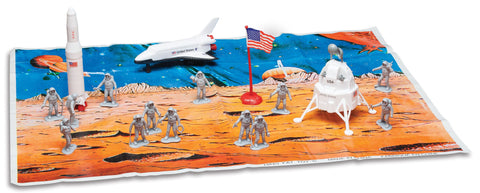 Space Exploration 20 Piece Playset with Playmat