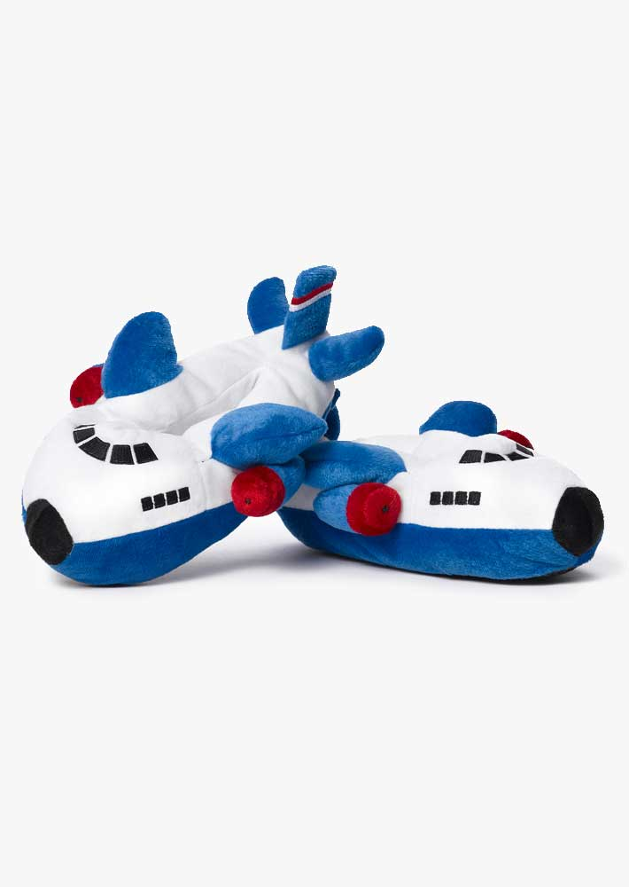 Boeing Blue Airplane Slippers