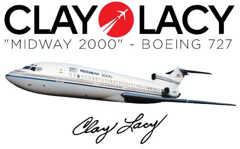 Clay Lacy Boeing 727 Plane Tag