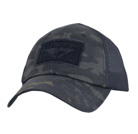 Camo Hat With Flag Patch