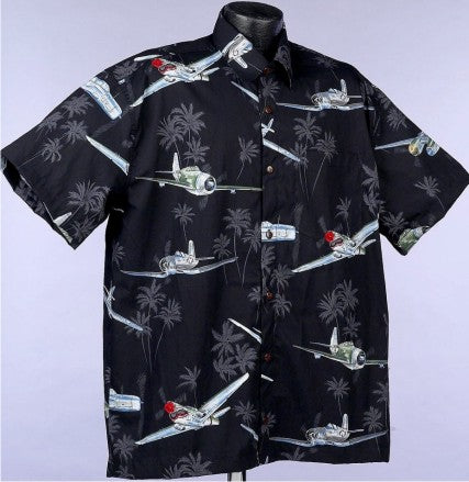 Black Hawaiian WWII Shirt