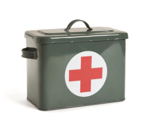 First Aid Storage Box with 3 Section Tray Insert