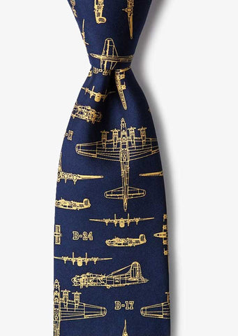 Flying Fortress Silk Necktie