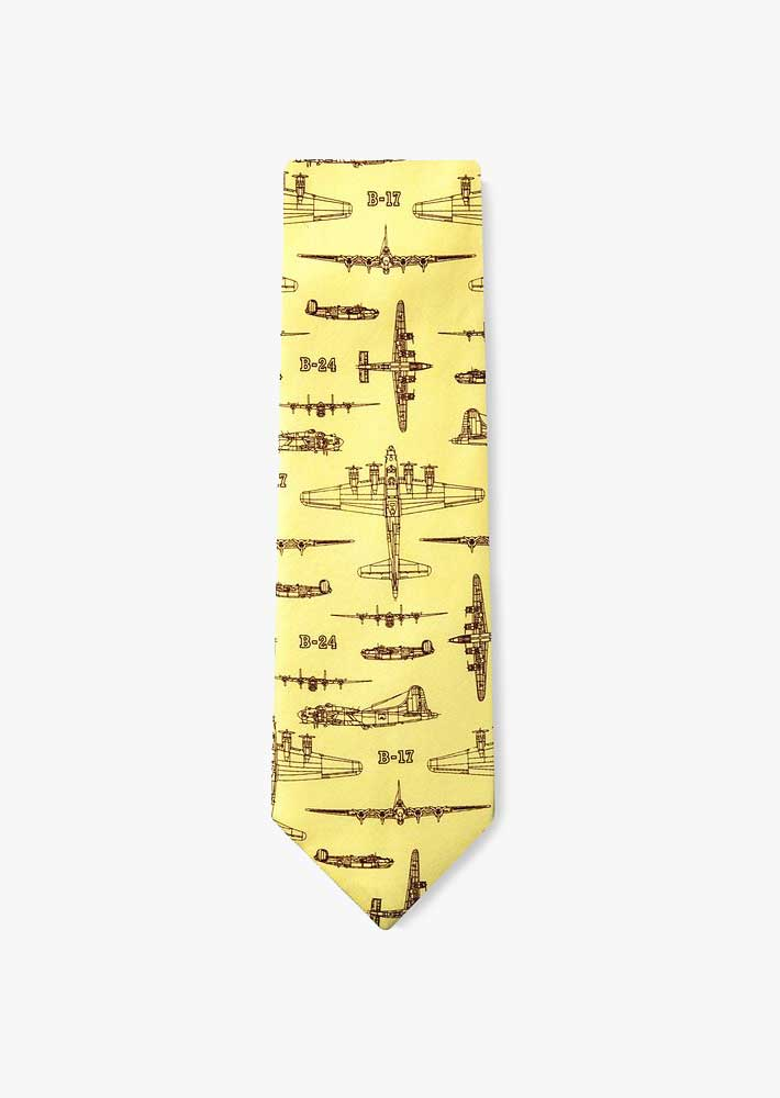 B-17 Flying Fortress Silk Necktie
