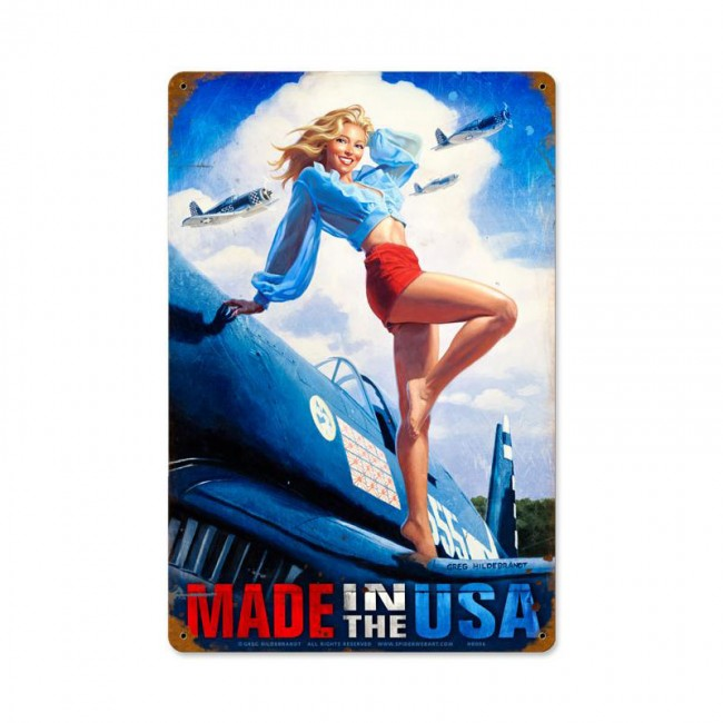 Made in the USA Tin Sign