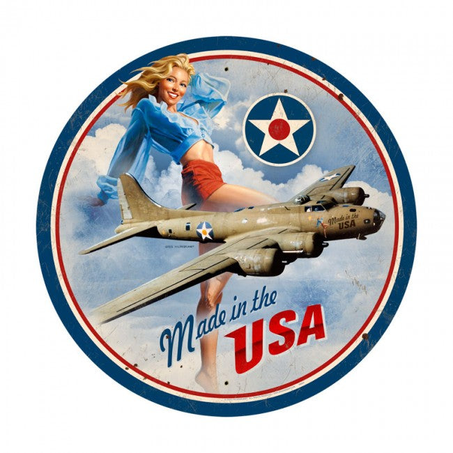 Made in the USA B-17 Large Tin Sign