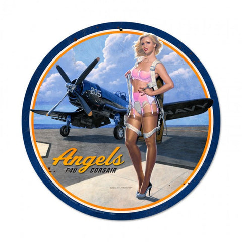 F4U Corsair Angels Tin Sign