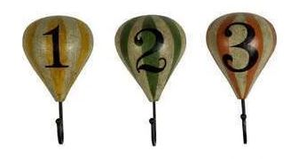 Hot Air Balloon Coat Hooks (set of 3)