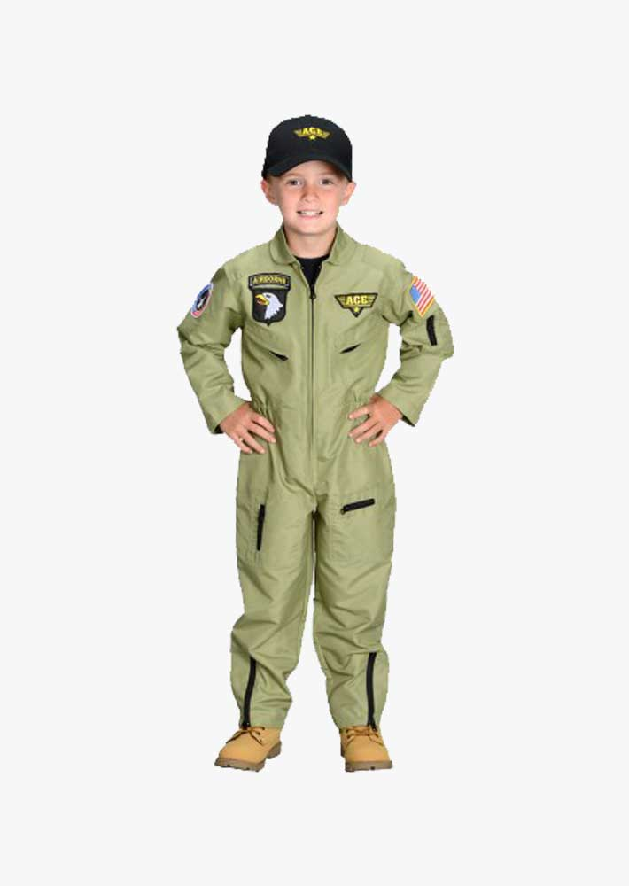 Kids Flight Suit & Ace Hat