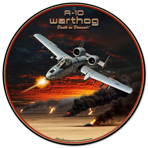 A-10 Warthog Tin Sign