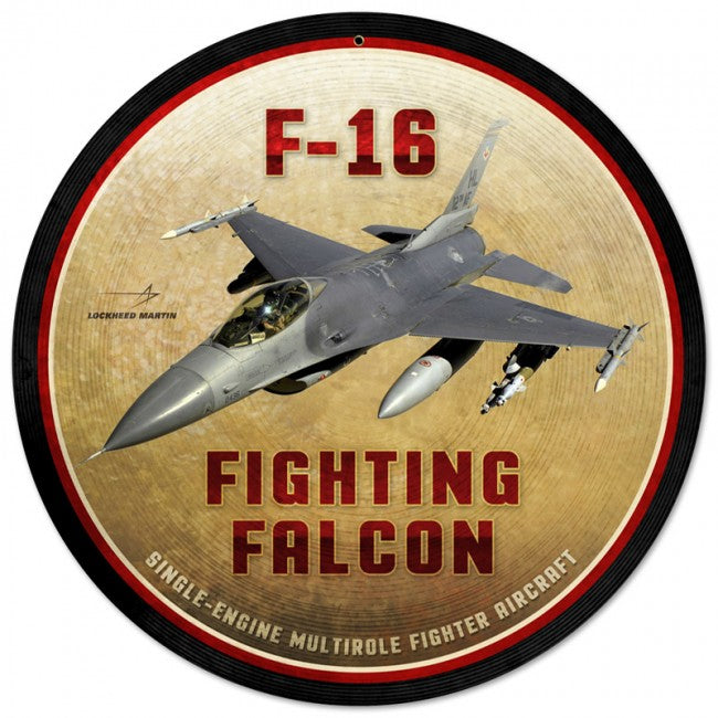 F-16 Fighting Falcon Tin Sign