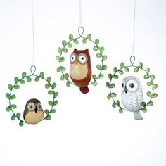 Owl with Wreath Ornament