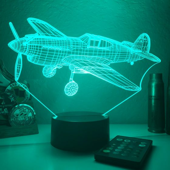 P-40 Warhawk 3D Aircraft Color Changing Lamp