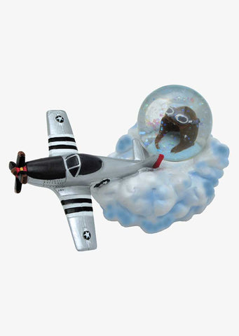 P-51 On Cloud Water Globe