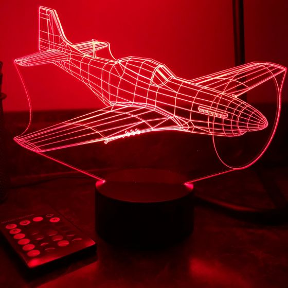 P-51 Mustang 3D Aircraft Color Changing Lamp